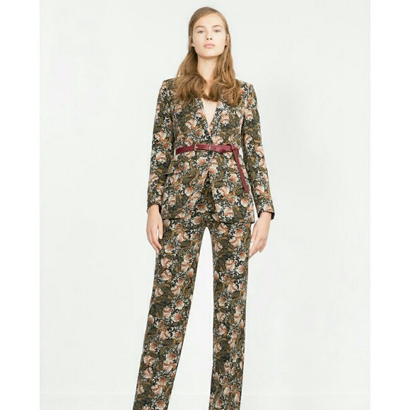 buy cheap choose original attractive designs Rare hard to find Zara floral pant suit set NWT